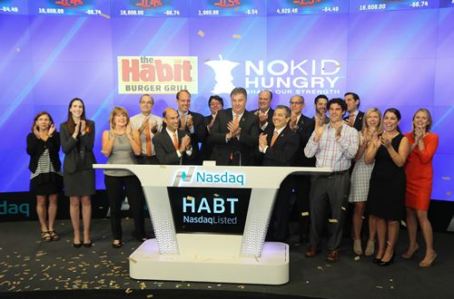 Habit Burger Rings Opening Bell at NASDAQ on National Cheeseburger Day