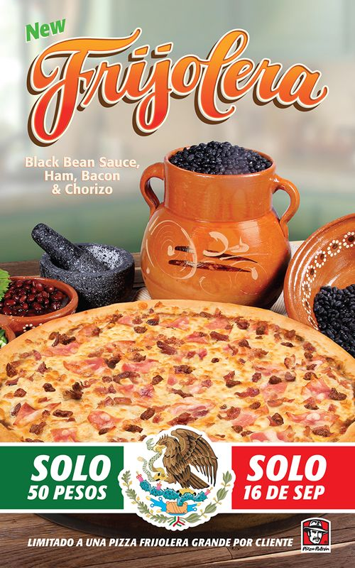 Pizza Patrón Touts '50 PESO' Pizza on Mexican Independence Day
