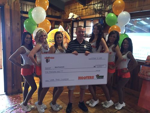 Indiana Hooters Fan Scores $5,000 and Ultimate Gruden Experience Using Fantasy Football Knowledge