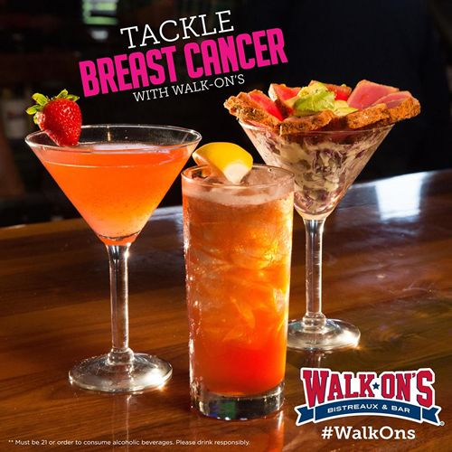 Tackle Breast Cancer with Walk-On's this October