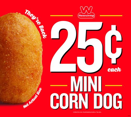 Wienerschnitzel Brings Back Mini Corn Dogs at a Huge Value