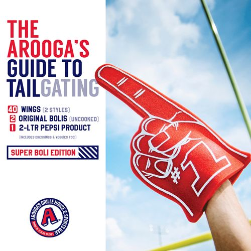 Arooga's Offers Unbeatable Tailgater Package for the Big Game