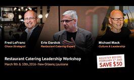 Expert panel to lead Restaurant Catering Leadership Workshop
