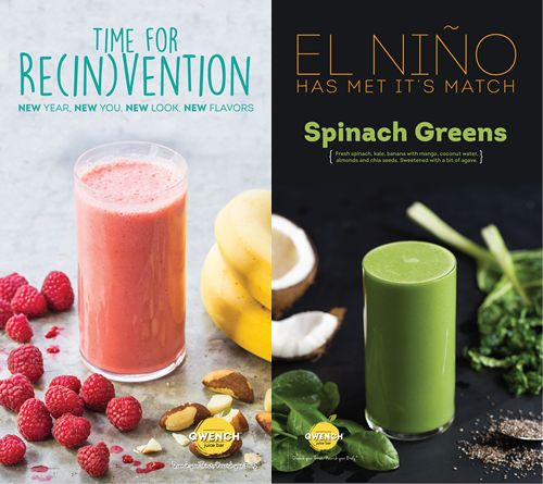 QWENCH juice bar launches New Flavors for a New Year, takes El Niño head on