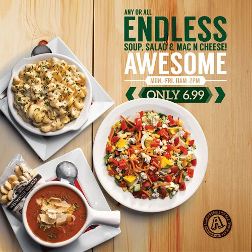 Arooga's Offers Unbeatable Endless Lunch Special, Monday - Friday for $6.99