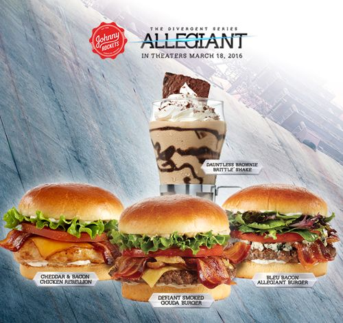 "Johnny Rockets Partners with Lionsgate for the Studio's New Film ""The Divergent Series: Allegiant"""