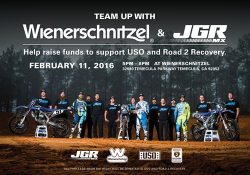 Pro Motocross Team Takes Over Wienerschnitzel for Charity
