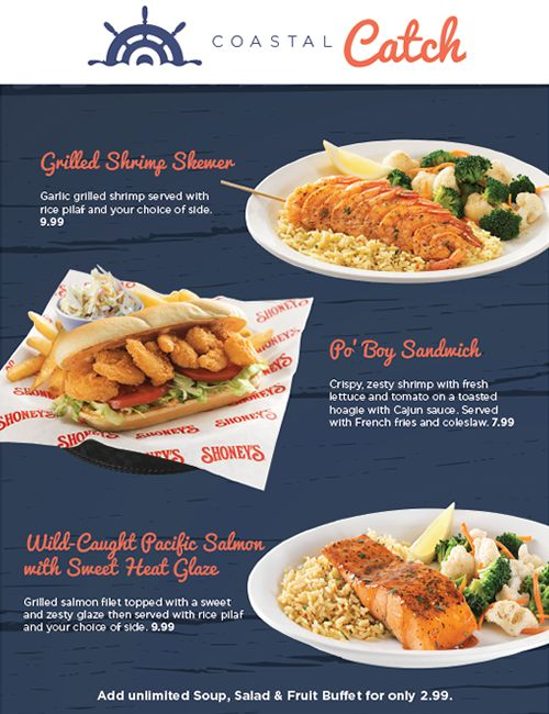 Shoney's Coastal Catch Reels in Fresh Seafood Specials
