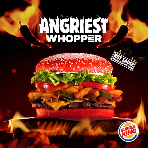 Angriest Whopper Sandwich with Red Bun Debuts at Burger King Restaurants