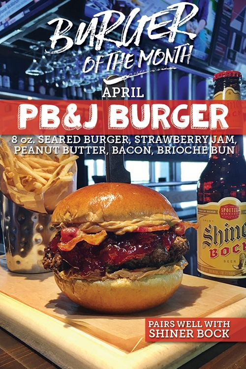 No Fooling! Walk-On's Debuts PB&J Burger on April 1