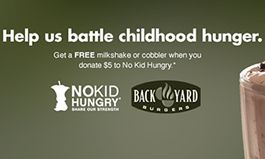 Back Yard Burgers Fights Against Child Hunger by Teaming Up with No Kid Hungry