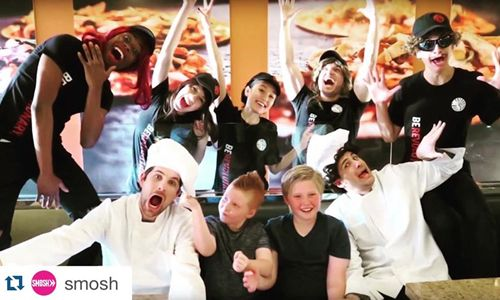 Comedy Powerhouse SMOSH Surprise Two Young Fans at PizzaRev in the latest Prank It FWD series