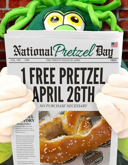 "Philly Pretzel Factory ""Twists"" Things Up for National Pretzel Day with Pretzel Giveaway and Presidential Candidate Pretzels"