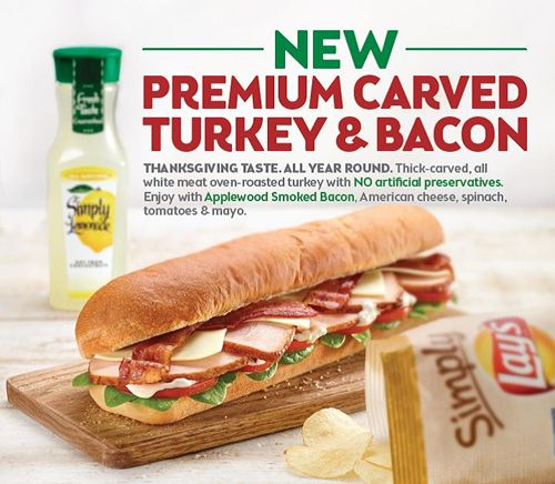 SUBWAY Sandwich Shop Introduces Thick Cut Carved Turkey to Permanent Menu Nationwide