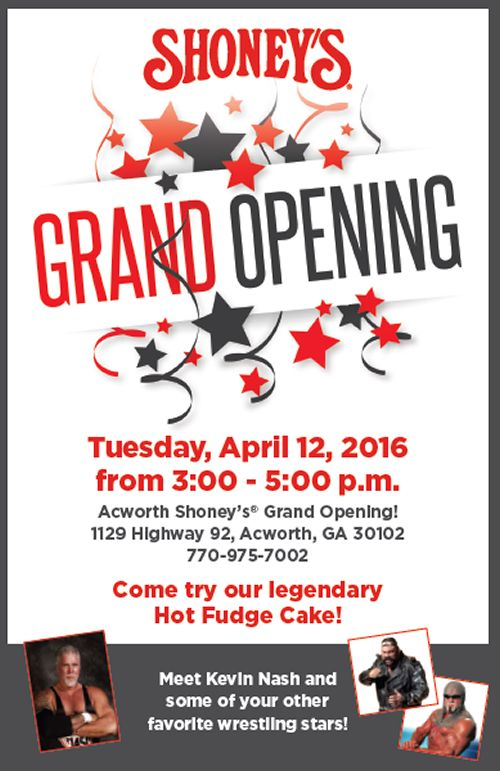 Shoney's to Offer FREE Hot Fudge Cake as it Celebrates the Grand Opening of its New Restaurant in Acworth, Georgia on Tuesday, April 12 from 3 - 5 pm