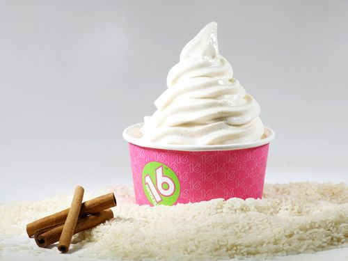 Cinnamon Rice Pudding Fro-Yo at 16 Handles