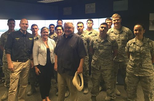 Dickey's Barbecue Pit Founder Roland Dickey, Sr. Pays Visit to Keesler Air Force Base