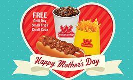 Moms Eat Free at Wienerschnitzel on Mother's Day