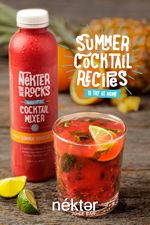 "Celebrate Summer Cocktail Season with Fresh, Low-Calorie and Handcrafted ""Nekter on the Rocks"" Cocktail Mixers from Nekter Juice Bar"