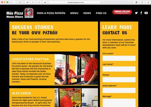 Pizza Patrón Unveils New Franchising Site - OwnAPizzaPatron.com
