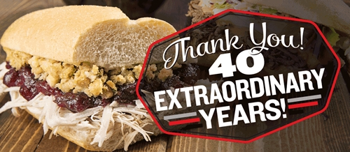Capriotti's Celebrates Its Ruby Anniversary
