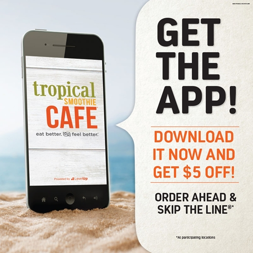 New App Release from Tropical Smoothie Café Delivers Next-Level Loyalty
