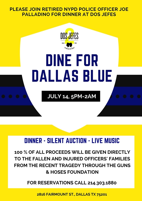 Palladino to Host Major Benefit for Dallas Police