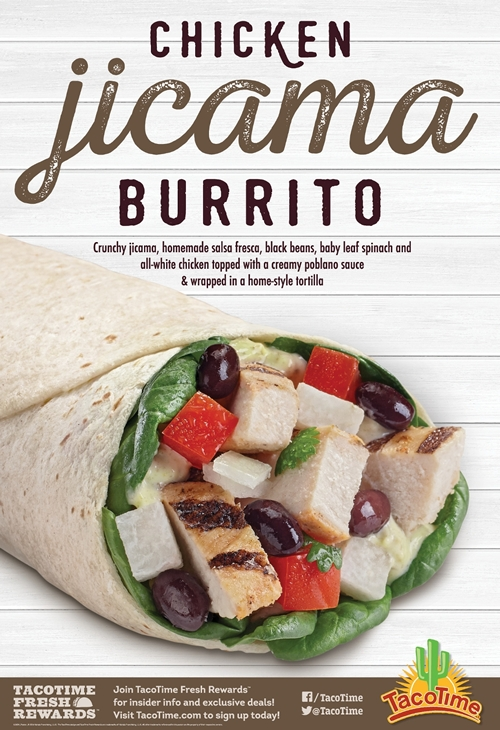 TacoTime Introduces Chicken Jicama Burrito