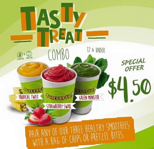 Juice It Up! is Back to School Ready with Healthy Snack Combos for Kids