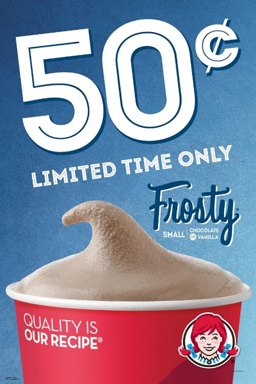 Wendy's Frosty Fans Can Beat the Heat with 50 Cent Frosty Treats