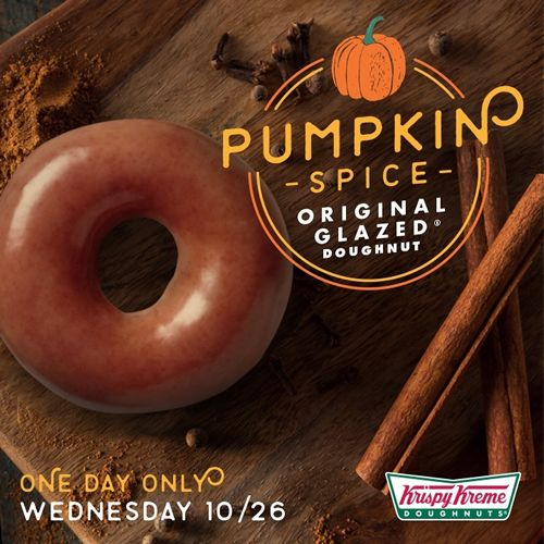 The Original Glazed Doughnut Goes Pumpkin