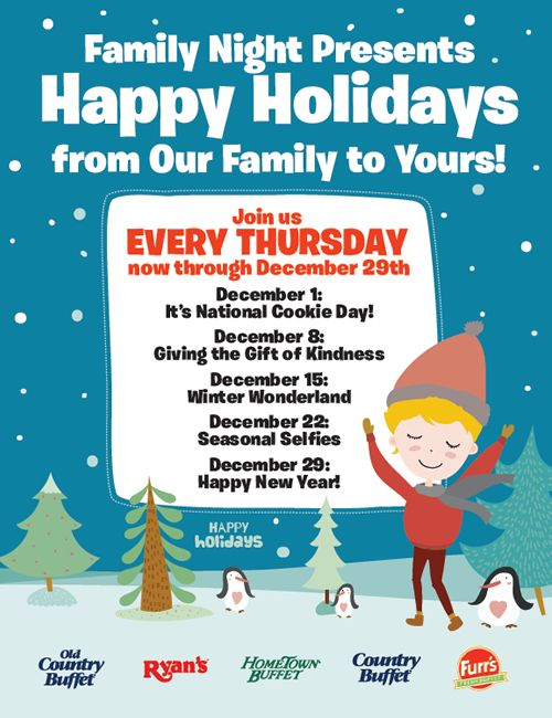 Ovation Brands and Furr's Fresh Buffet Celebrate the Holidays with a New Family Night Promotion, Starting December 1