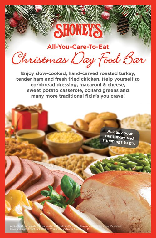 Shoney's Will Be Open on Christmas, Invites America to Enjoy its All-You-Care-to-Eat Freshly Prepared Christmas Day Food Bar