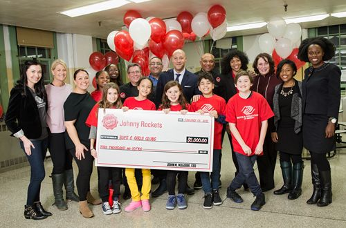 Johnny Rockets Donates $5,000 to the Education Alliance Boys & Girls Club in NYC to Suport After-School Programming