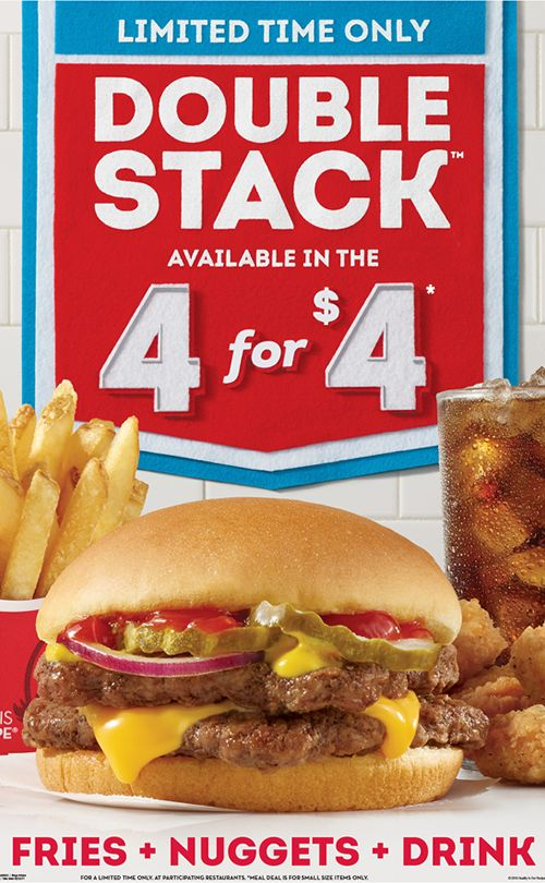 Wendy's Beefs Up 4 for $4 Meal with Double Stack
