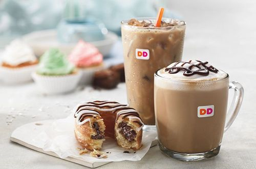 Dunkin' Donuts' Sweet Pairing for Valentine's Day: Heart-Shaped Donuts and New Fudge Brownie & Vanilla Cupcake Flavored Coffees