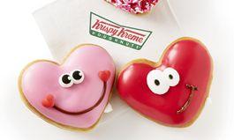 Happy Hearts: Krispy Kreme Doughnuts Showcases Heart-Shaped Valentine's Day Doughnuts