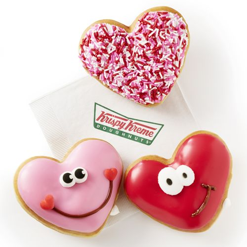 Happy Hearts: Krispy Kreme Doughnuts Showcases Heart-Shaped Valentine's Day Doughnuts