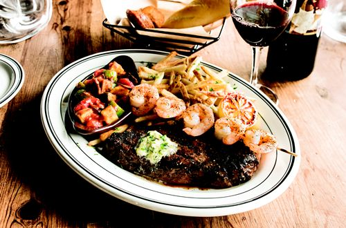 Mimi's Introduces Fire-grilled Seafood Skewers with Roasted Ratatouille Provencal Vegetables and Surf N' Turf Duet