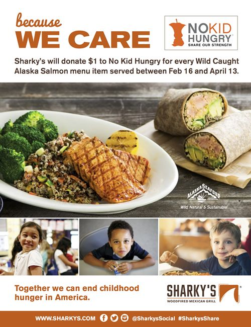 Sharky's Woodfired Mexican Grill Launches Annual Campaign to End Childhood Hunger in America