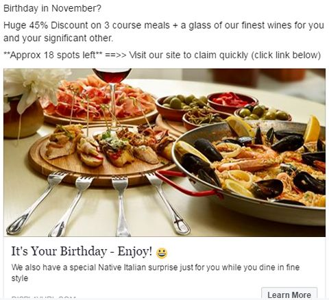 Small Italian Restaurant Spent $14.90 on Ads and Made $3,000 In 3 Days