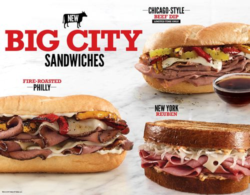 Arby's Brings Iconic Big City Sandwiches to Restaurants across the Country