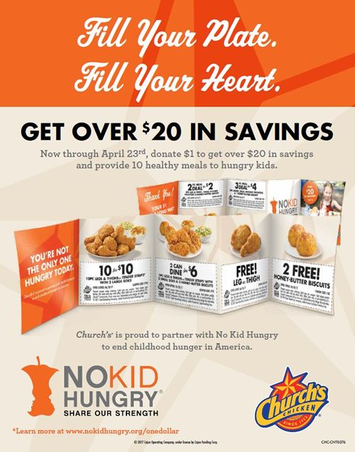 Church's Chicken Renews & Expands Partnership with No Kid Hungry