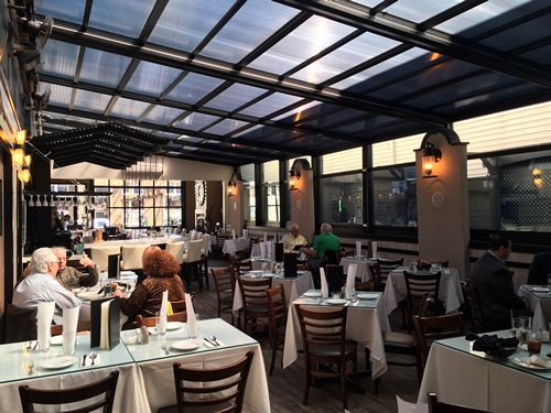 Roll-A-Cover's Innovative Retractable Sunroom Extends the Season at Marcello's Restaurant