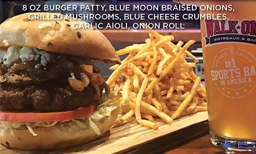 Walk-On's Adds Blue Moon Burger to April's Menu