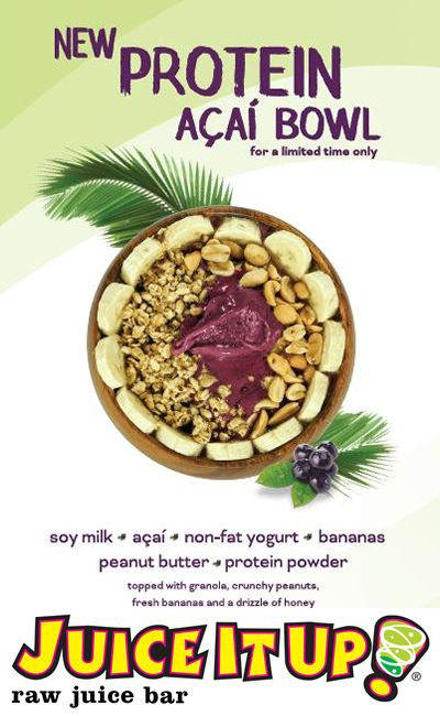 Juice It Up! Launches Protein Açaí Bowl Featuring Peanut Butter