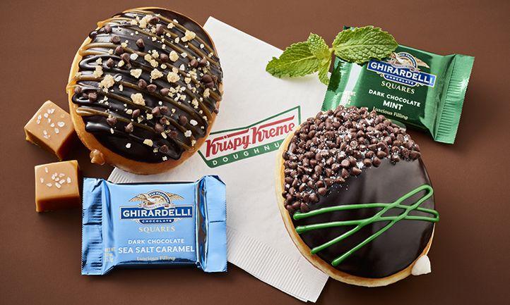 OMGhirardelli! Krispy Kreme Doughnuts Introduces Two New Doughnuts Made with Ghirardelli Chocolate