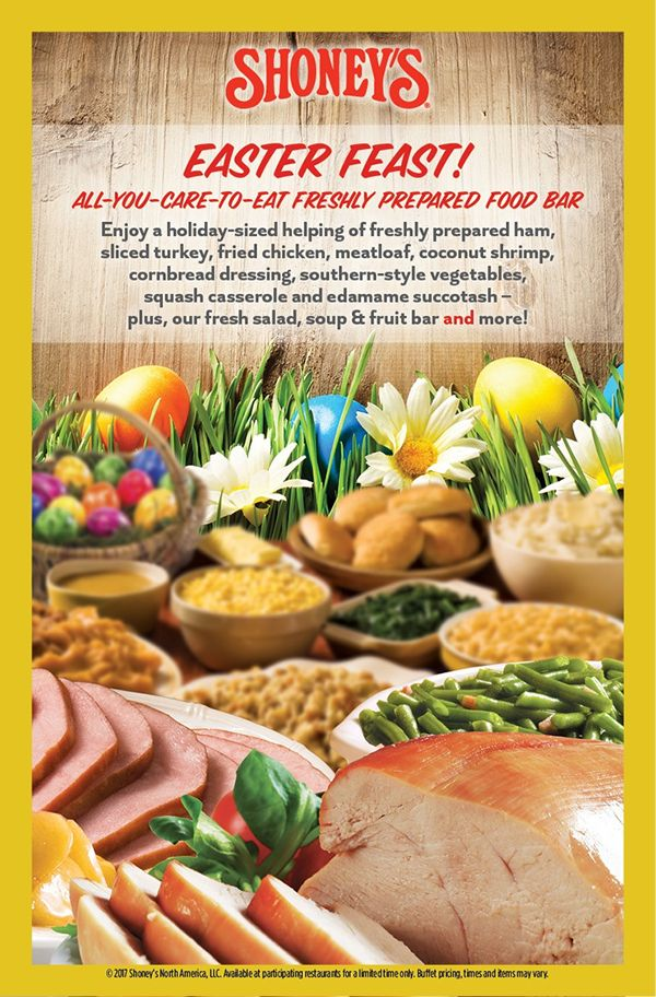 Shoney's Invites America to Enjoy its Home-Style Easter All-You-Care-To-Eat Fresh Food Bar Featuring Freshly-Prepared Holiday Favorites