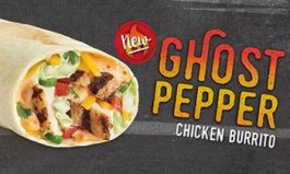 TacoTime Heats Up With New Ghost Pepper Chicken Burrito