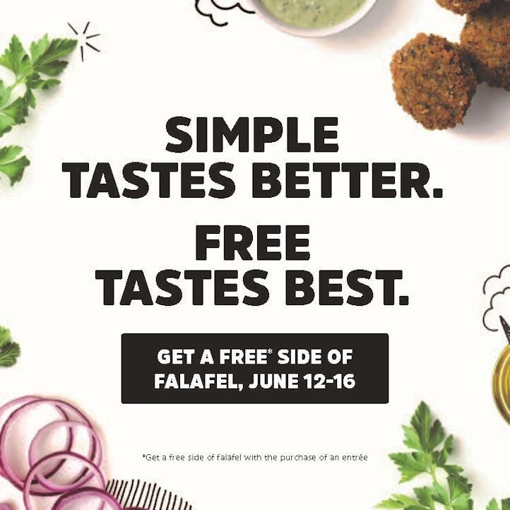 "LRXD and Garbanzo to ""Free the Falafel"" in Restaurant's Recipe Promo"